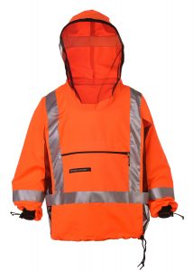 High visibility bug proof clothing front
